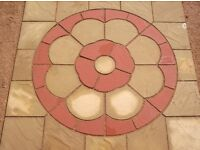 Stone Concrete Rose Patio Paving Set 2.25 sqm including Sqauaring Off Kit.