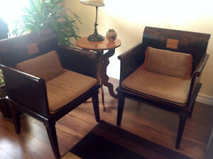 Two Chinese Art Chairs