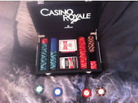 Poker table and 3 sets of chips