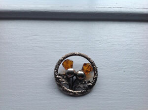 Old Scottish Thistle Kilt Brooch