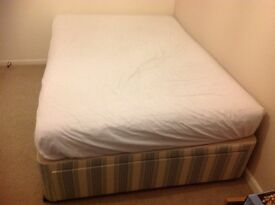 Double divan bed free