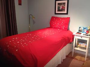 Housse de couette et cache-oreiller (lit simple)
