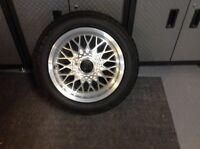 """Set of 4, ACT 15"""" 4x100 wheels and tires"""