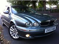 LOOK 2003 JAGUAR X TYPE 2.0 V6 SE FOG LIGHTS A/C SPORT ALLOYS WITH NEW TYRES