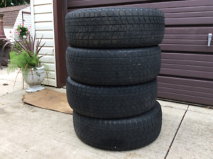 4 Bridgestone Blizzak snow tires 235/60/18 $100