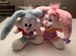 TINY TOON ADVENTURES Vintage 1995 Buster & Babs Bunnies Plush