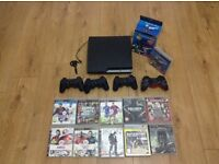 Slim PS3 with games and PlayStation move