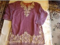 """Ladies Long blouse size 50""""chest used £1"""