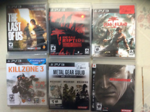 Jeu PS3  Metal Gear solid-Last of Us-Uncharted-Grand theft Auto