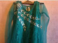 A beautiful indian long maxi dress green size 40 used £5