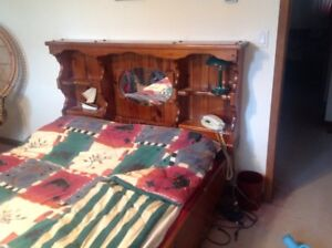 Queen size bed and headboard
