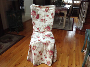 Waverly Drapes..matching chair covers