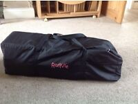 Travel cot bed in carry bag