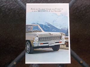 1966 Chevy II and Nova dealer showroom catalog