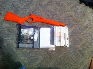 White wii like new with 9 games