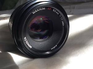 Minolta AF 50mm 1.7 fast lens!!!