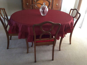 Solid Wood Dining Table + 2 Extensions, 4-Chairs Reconditioned Kitchener / Waterloo Kitchener Area image 3
