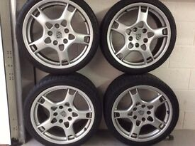 Wheels and tyres for Porsche 911 (997) 19 inch Lobster Claw.