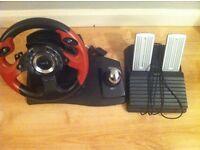 Logic 3 Triformat Top Drive GT Steering Wheel & Pedals