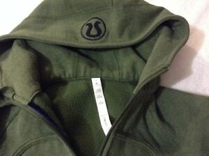Lululemon green sweater, zipup hoodie, top great condition  London Ontario image 1