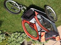 Chariot /poussette pour vélo