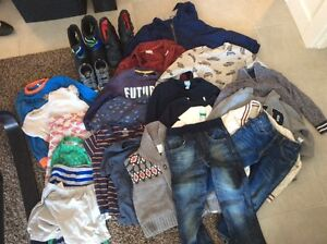 3T/4T clothing lot with shoes