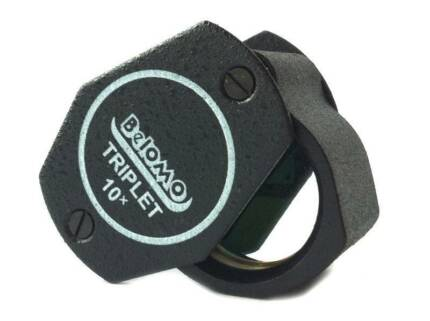 Belomo Jewellers 10x Loupe Hand Lens Triplet Gemmology Tools