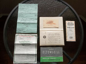 1958 Oldsmobile glove box manual & purchase documents London Ontario image 2