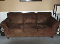 ORANGEVILLE - MicroFibre 3-Seat & 2 Arm Chairs REDUCED from $600