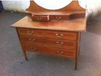 Edwardian Mirrored Dressing chest of drawers