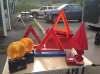 Various roadside safety markers
