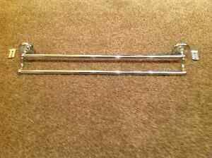 Chrome dual towel bar