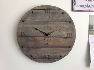 LARGE RECLAIMED WOOD CLOCKS
