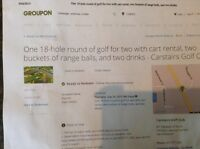 Carstairs golf club tickets for 2 players w carts balls drinks