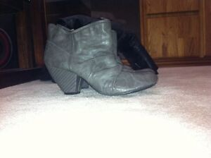 Size 7.5 high heel ankle boots