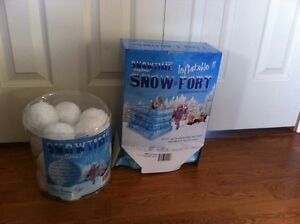 Inflatable Snowfort and Snowballs