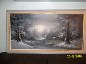 Winter scenery painting