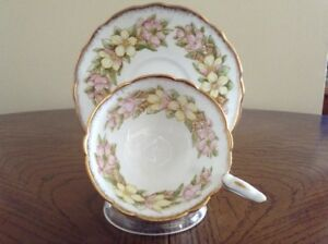 Vintage Royal Stafford Cup & Saucer - Orange Blossom