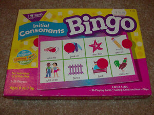 BINGO- Initial Consonants Bingo- Educational Bingo London Ontario image 1