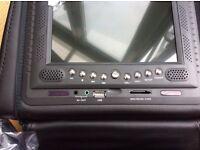 Car headrests DVD player black