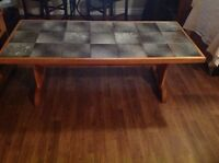 Handcrafted Tiled Topped Coffee Table with 2 End Tables