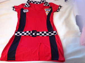 Adult small female race car driver costume.