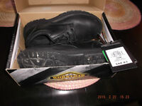 used once size 10W steel toe boots