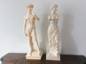 Italian alabaster David and Diana