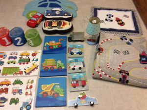 Boys twin size quilt/comforter and bedroom accessories