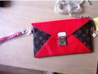 Louis Vuitton clutch red and black