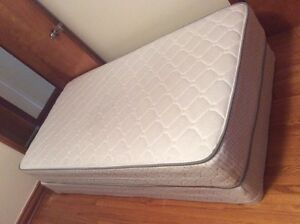 Twin size mattress, box spring and bed frames