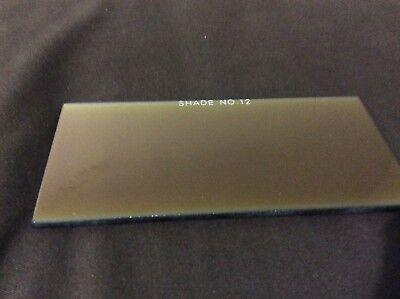 Shade 12 Welding Helmet Gold Filter Glass Lens 2x4.25  -