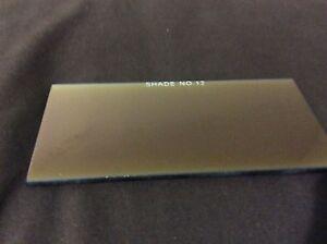Shade 12 Welding Helmet Gold Filter Glass Lens 2x4.25  2x4