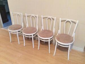4 chaises bistro